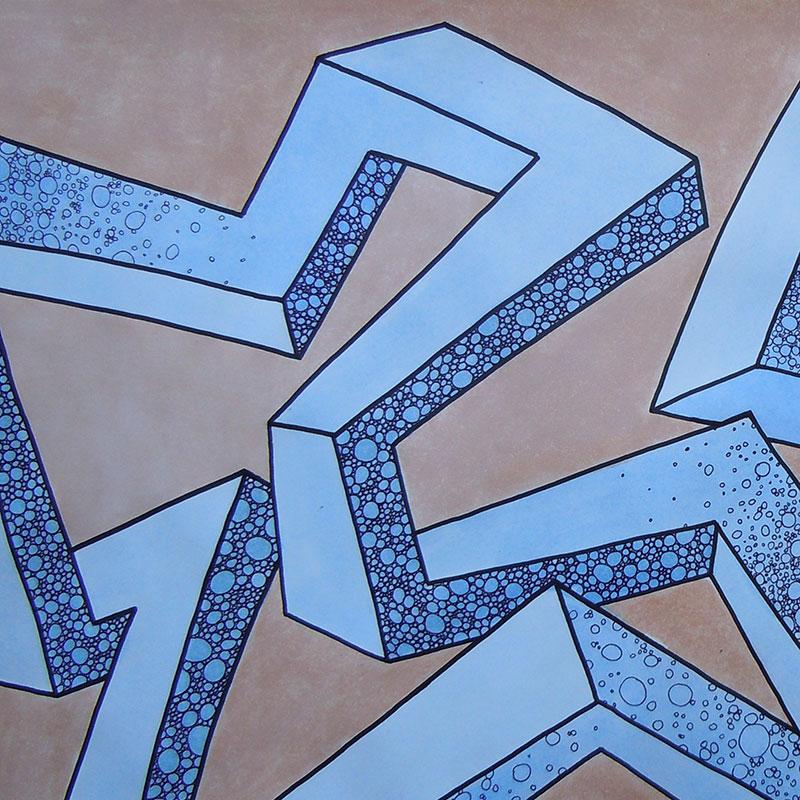Balkentanz blau